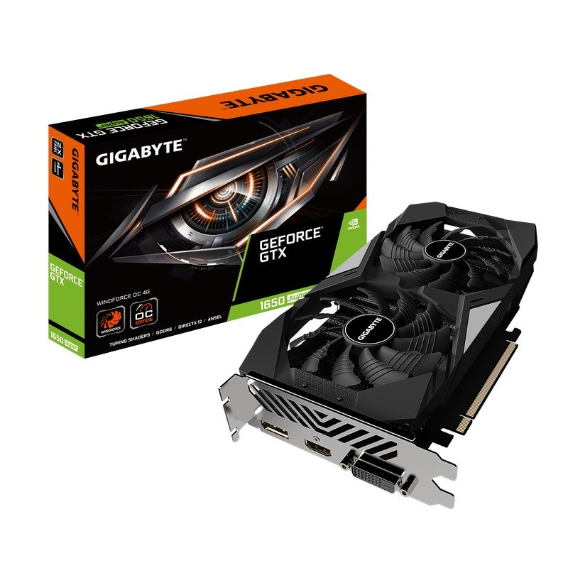 TARJETA GRAFICA GIGABYTE GEFORCE GTX 1650 SUPER WINFORCE OC 4GB DDR6